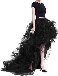Women's Long High Low Ruffles Party Tulle Skirt