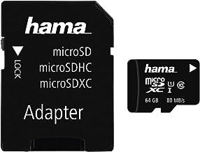 Hama microSDXC 64GB Class 10 UHS-I 80MB/s Karte inkl. SD Adapter