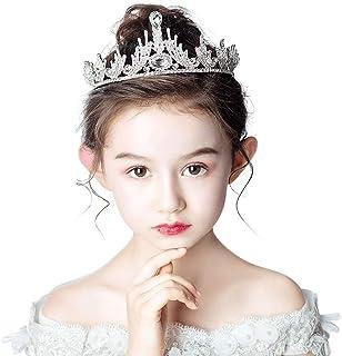RKY Ragazze Corona, Corona Copricapo principessa di cristallo di compleanno dei capretti fascia Flower Girl Dress Accessor...