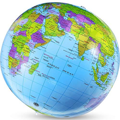 Mondo Gonfiabile Terra Gonfiabile Mappamondo Gonfiabile Pallone Gonfiabile per Aiuti all'Istruzione per Insegnanti di Geografia Pallone da Spiaggia Gonfiabile per Strumento Educativo