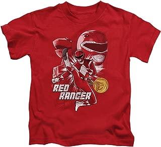 Power Rangers Red Ranger Unisex Youth Juvenile T-Shirt for Girls and Boys