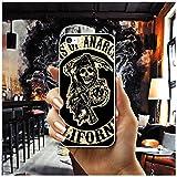 IFMGJK De los Hijos de la anarquía Suave Transparente del teléfono del TPU de la Cubierta de los Casos for iPhone 8 7 6 6S Plus X XR XS MAX 5 5S SE 5C 4 4S Shell Fundas