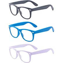 d7c3f98fc6d Outray 3 Pack Kids Children Nerd Retro Clear Lens Eye Glasses Age 3-10