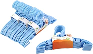 mymerlove 40 x Kids Baby Plastic Coat Clothes Garment Trousers Hangers Blue Durable