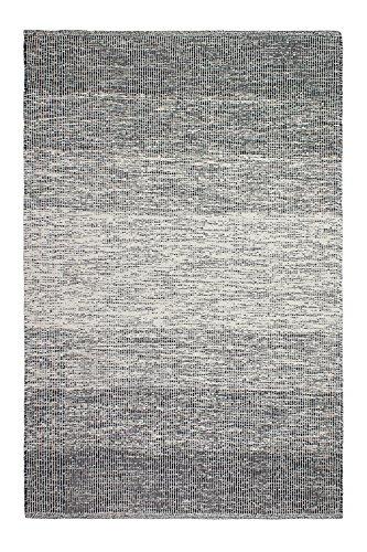 FAB HAB Lucent - Tappeto in cotone a trama piatta, 60 cm x 90 cm, colore: Nero