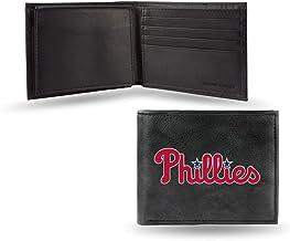 Rico Philadelphia Baseball Phillies MLB Embroidered Team Logo Black Leather Bi-fold Wallet