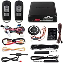 $119 » EASYGUARD EC002-MA PKE car Alarm Passive keyless Entry auto Start Push Start Button & Password keypad Access Rolling Code ...