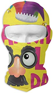 IDO Happy Birthday Floral Flowers Stars Celebration Full Face Masks UV Balaclava Hood Ski Mask Motorcycle Neck Warmer Tactical Hood for Cycling Outdoor Sports Mountaineering