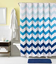 Rarva Shower Curtain, 72X78  X001UHQWDR 100% polyester midew resistant,1shower curtain with 12 rings