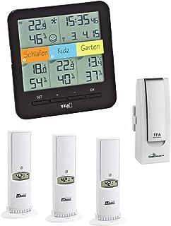 TFA Dostmann climática Home Korfu TFA 30.3060.It de clima Control de radio térmica de higrómetro, schwarz 30.3060.01