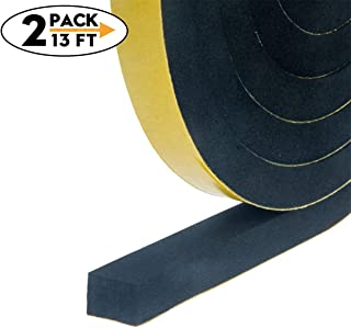 Adhesive Insulation Soundproofing Foam Tape, Weather Stripping for Doors and Window High Density Foam Seal Tape,Total 13 Feet Long (1/2 Inch Wide X 3/8 Inch Thick,2 Strips of 6.5Ft Long Each)