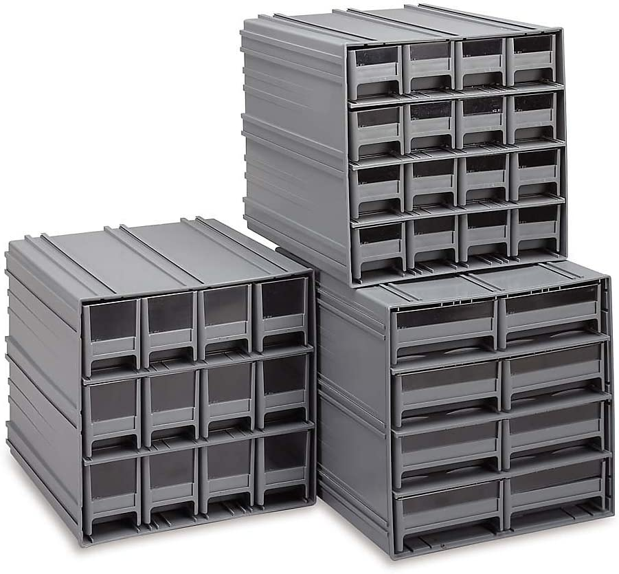 Quantum Storage Max 75% OFF QIC-161GY Cabinet Spring new work one after another and Grey Drawers