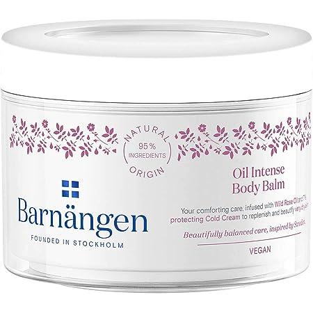 Barnängen, Balsamo Corpo Oil Intense, Crema Corpo Idratante per Pelli Secche, Trattamento Idratante all'Olio di Rosa, 200 ml