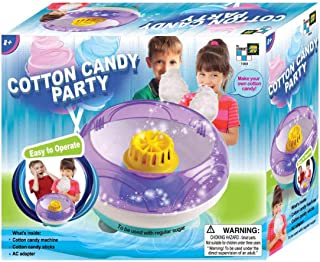 AMAV Electric Cotton Candy Maker Toy - DIY Make Your Own Cotton Candy using Regular Sugar - Great Birthday Present For Kids & Kids at Heart Aged 8+
