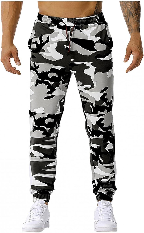 Beshion Sweatpants for Men Casual Camo Bottom Lightweight Jogger Pants Comfy Slim for Gym Workout Sport Drawstring Long Pants