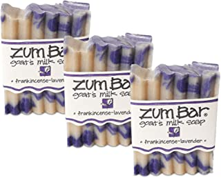 Indigo Wild Zum Bar Goat's Milk Soap - Frankincense and Lavender 3 Pack