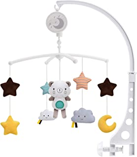 Promise Babe Mobile Baby Holz mit Filzb/ällen Kinderzimmer H/ängende Bettglocke Hase Mobile Windspiel f/ür Babybett Kinderbett Rosa