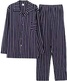 Pajamas Men's Long Sleeve Cotton Men's Lapel Comfortable Sizes Fashion Loungewear Home Clothing Set Matching Sets Large Pa...