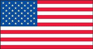 Accuform Signs LHTL671 Reflective Adhesive Vinyl Flag Helmet Sticker, American Flag, 1