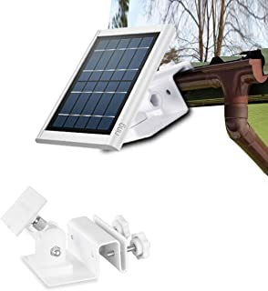 HOLACA Weatherproof Gutter Mount for Ring Solar Panel- Wall Mount Bracket Outdoor Mount Accessories for Ring Solar Panel (...