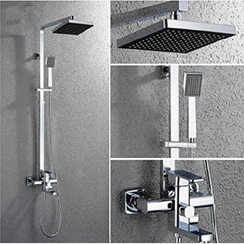 Caribou@Messing verchromt drei Dusche Set Bad Grünckte Dusche Wasserhahn