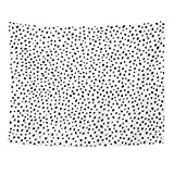 TOMPOP Tapestry Polka Dot Simple Structure Abstract Many Scattered Pieces Black White Home Decor Wall Hanging for Living Room Bedroom Dorm 60x80 Inches