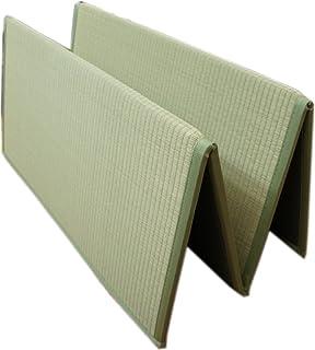 折りたためるユニット畳:1畳サイズ(80x160cm) ナチュラル色 コンパクト収納で、持ち運びに便利 【スベリ止め加工】