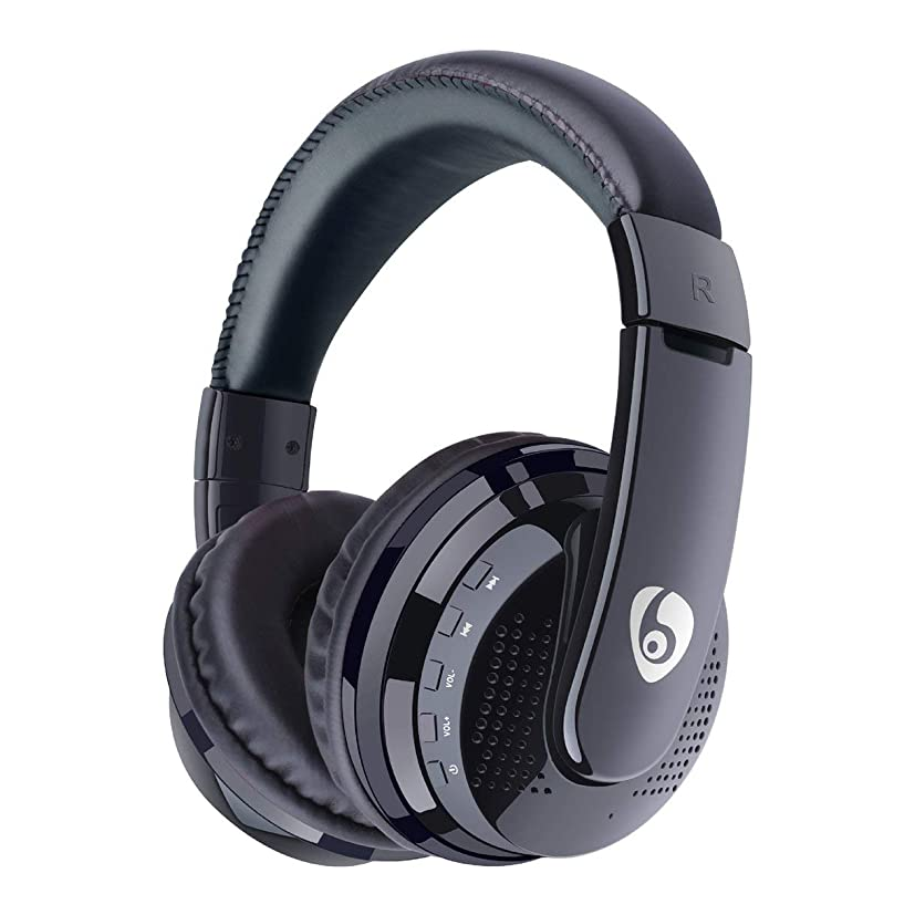 薬理学いつ未接続QinKingstore Over Ear HiFi BassステレオヘッドフォンヘッドセットNirkabel FM Radio Kartu TF MP3 Playback Handsfree Dengan Mikrofon