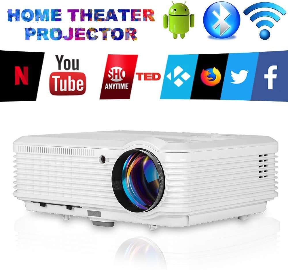 LED WiFi Proyector con Bluetooth, Soporte HD 1080P LCD Video ...