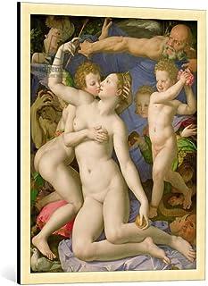 "kunst für alle Framed Art Print: Agnolo di Cosimo Bronzino an Allegory with Venus and Cupid c 1540-50"" - Decorative Fine A..."