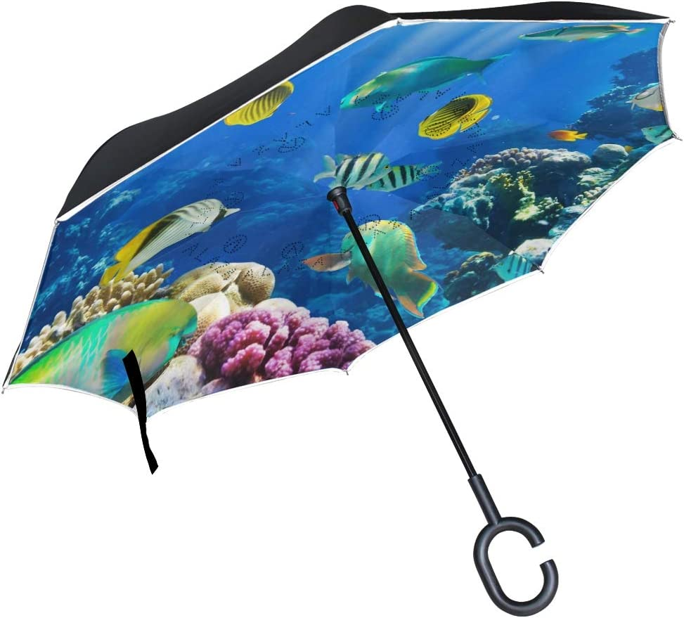 Reverse Umbrella with C-Shaped Handle outlet for Al sold out. Win Car Patio