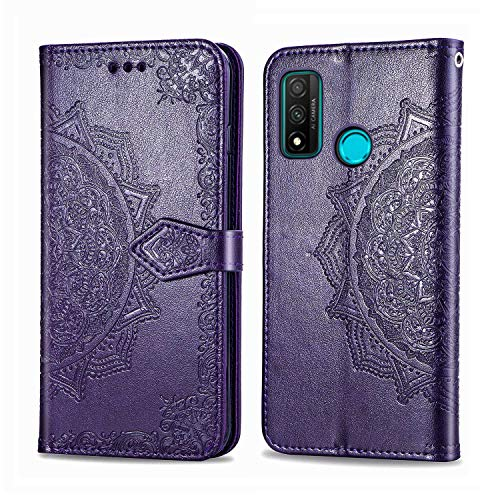 Bear Village Hülle für Huawei Nova Lite 3 Plus, PU Lederhülle Handyhülle für Huawei Nova Lite 3 Plus, Brieftasche Kratzfestes Magnet Handytasche mit Kartenfach, Violett