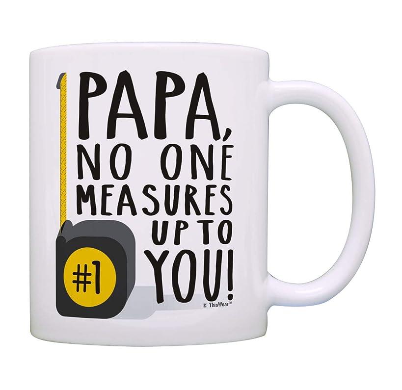 Papa Birthday Gifts Papa No One Measures Up To You Measuring Tape Pun Mug Papa Coffee Mug Cup White