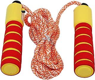 com-four/® 4X Corda per Saltare per Bambini Corda per Saltare in Colori Vivaci 210 cm 04 Pezzi - Giallo//Blu//Rosa//Viola Lunghezza Regolabile