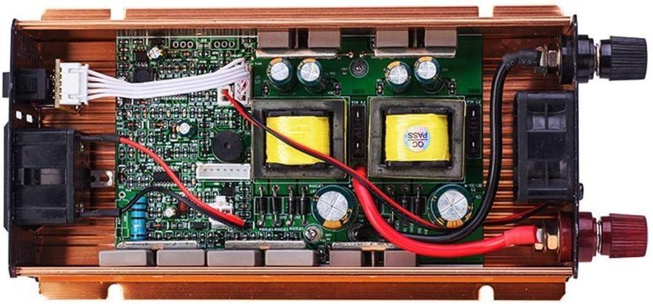 2600W Coche inversor Energ/ía Convertidor DC 12V 24V 48V 60V 72V a la ca 220V Modified Sine Wave Adaptador con Puertos USB Toma Enchufe1200W-12V XBNBQ autom/óvil Transformador 12V To 220V 600W