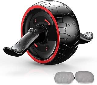 【最新進化版】 腹筋ローラー アブホイール エクササイズウィル 超静音 リバウンド機能 エクササイズローラー 腹筋トレ 男女兼用 取り付け簡単 安定 膝マット付き