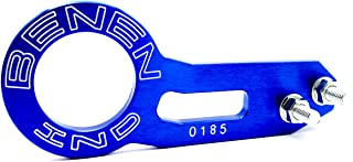 Rear Tow Towing Hook for Universal Car Auto Trailer Ring Aluminum Alloy, Improved} Wiredrawing Anodizing (Blue)
