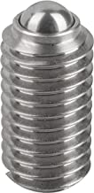 KIPP K0310.08 Veerend drukstuk - met gleuf - (10 stuks per verpakkingseenheid) M8, L=16 componenten van roestvrij staal