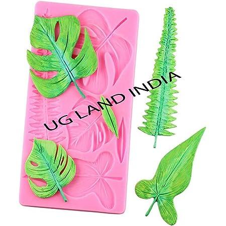 UG LAND INDIA Turtle Leaf Leaves Silicone Cake Mould Plant Fondant Mould Cake Decorating Tools Chocolate Mold Gumpaste Sugarcraft Baking
