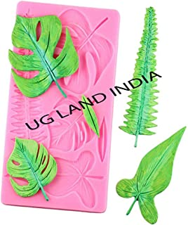 UG LAND INDIA Turtle Leaf Leaves Silicone Cake Mould Plant Fondant Mould Cake Decorating Tools Chocolate Mold Gumpaste Sug...