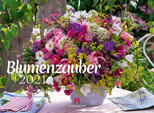 Blumenzauber Kalender 2021, Wandkalender im Querformat (45x33 cm) - Blumenkalender