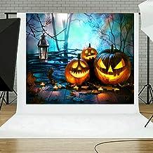JiaMeng Decoración del hogar Fondos de Halloween Calabaza Vinilo 5x3FT Fondo de fotografía de Fondo de la Linterna