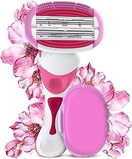 LetsShave Evior 6 Body Hair Removal Razor for Women (1 Razor Handle, 1 Blade Cartridge, 1 Blade Case)
