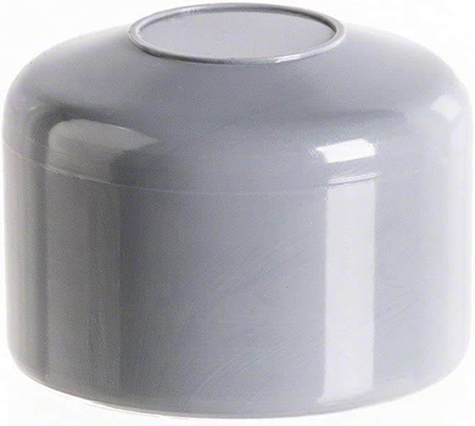 OuM 10 St/ück Pfostenkappe Zaunpfahlkappe rund 44,5mm Grau