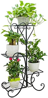MAJOZ0 Soportes para Plantas,Estanteria para Macetas 4 Niveles,Maceteros Porta Macetas Metal,Decorativos Stand para Macetas Exterior Interior Jardín