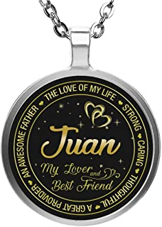 Necklace for Juan Wife - The Love of My Life Strong Caring Thoughtful a Great Provider an Awesome Father My Lover and Best Friend - Pedant Necklace