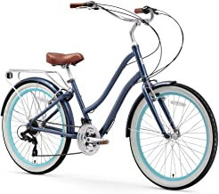 sixthreezero EVRYjourney Women's Step-Through Hybrid Alloy Beach Cruiser Bicycle..