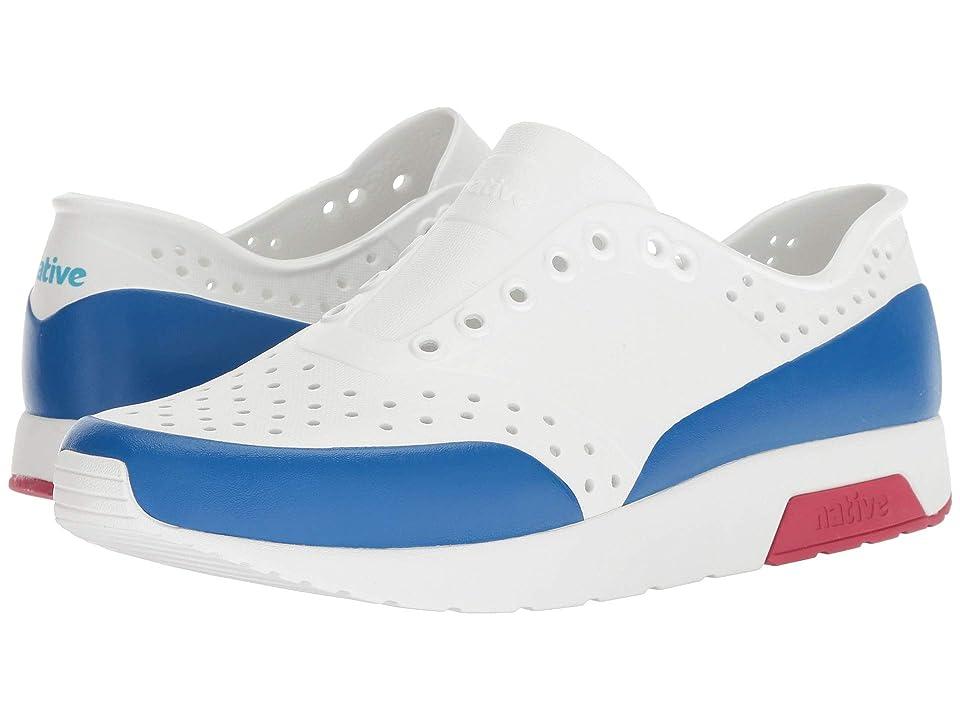 Native Shoes Lennox (Shell White/Shell White/Ski Patrol Red/Victoria Block) Athletic Shoes