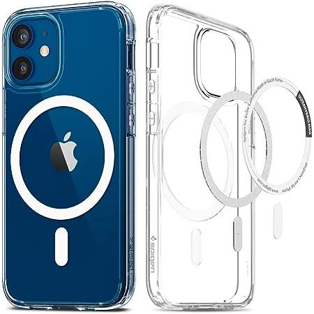 Spigen iPhone12 Mini ケース 5.4インチ全透明 MagSafe 対応 ケース クリアケース 米軍MIL規格取得 耐衝撃 すり傷防止 ワイヤレス充電対応 アイフォン12 ミニケース ウルトラ・ハイブリッド マグ ACS02628 (ホワイト)