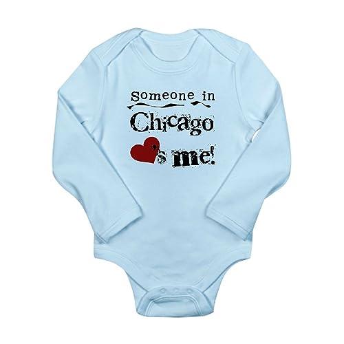 dc3314649 CafePress - Chicago Loves Me Long Sleeve Infant Bodysuit - Cute Long Sleeve  Infant Bodysuit Baby